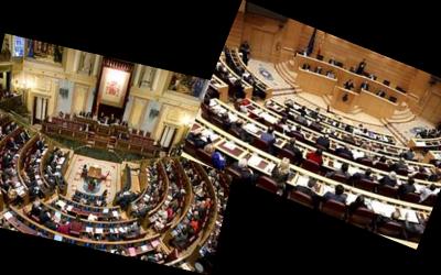 Rueda de prensa en la agrupación socialista al finalizar la XI legislatura.