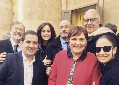 Con los compañeros de Alcoi, Cocentaina y Fernando Delgado
