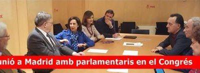 Reunión de trabajo entre el presidente Ximo Puig y los diputados valencianos en Madrid.