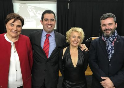 "En la entrega del ""laurel de oro de la UA"" a Sol Picó"