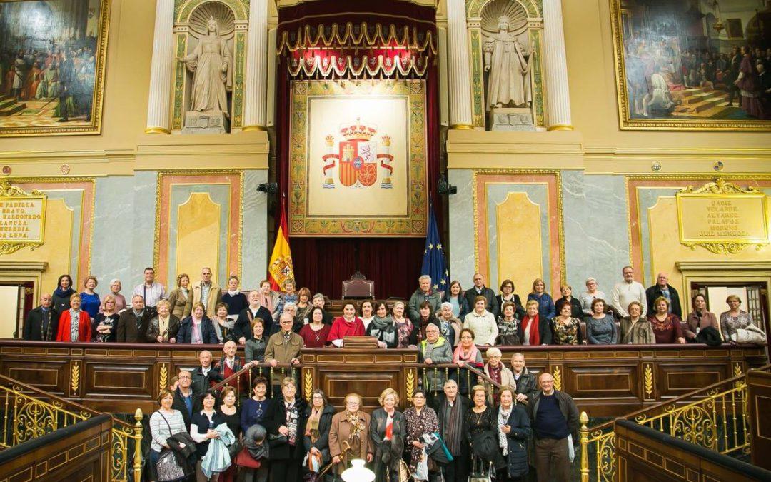 Visitas de las Aulas de la Tercera Edad de Alcoi al Congreso de los Diputados