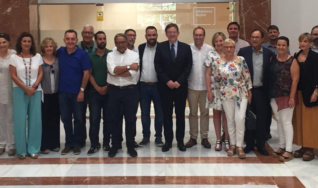 Reunión de trabajo con el Presidente de la Generalitat   Ximo Puig.