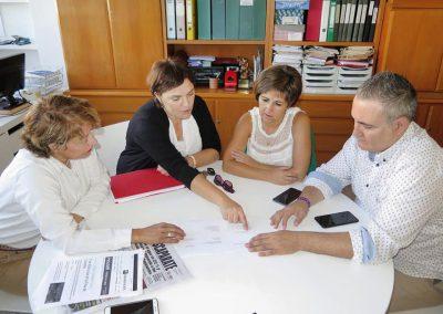 Reunión con los compañeros de Ibi y Castalla