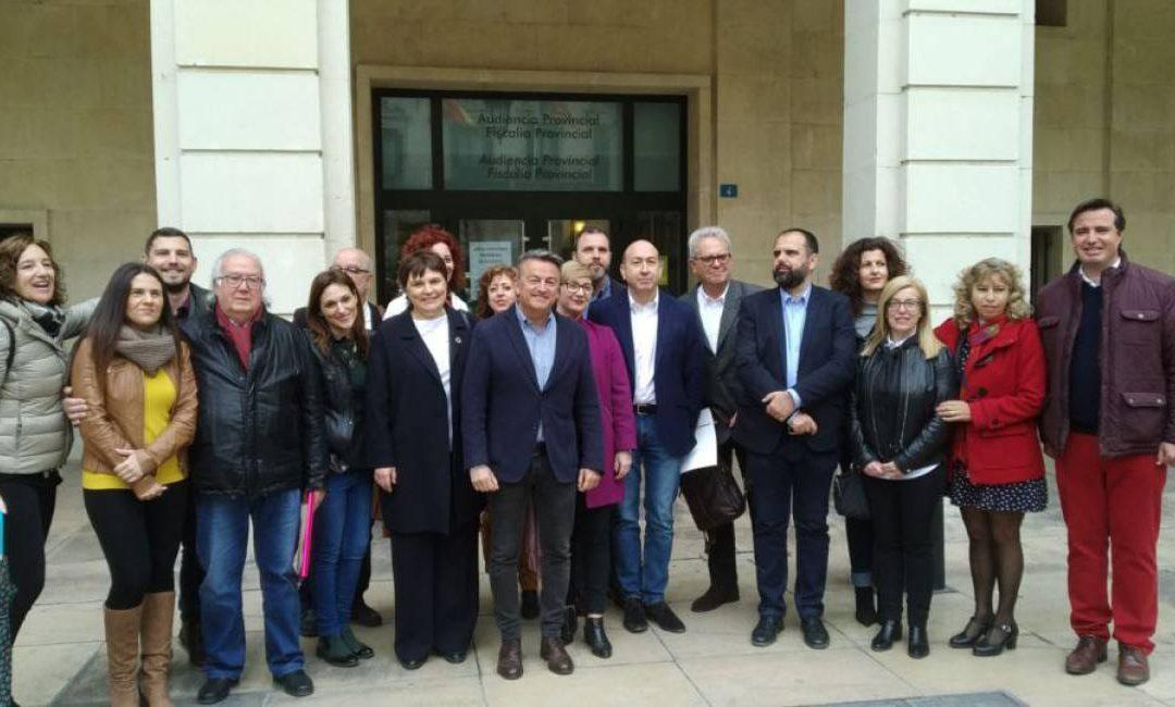 El PSPV registra sus candidaturas por Alicante a Les Corts, al Congreso y al Senado