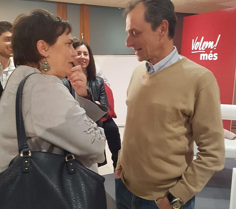 Dialogos entre Ximo Puig y Pedro Duque