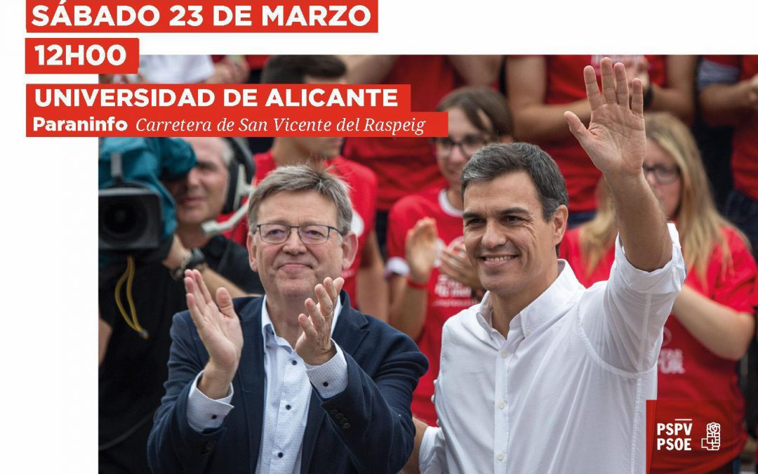 Pedro Sánchez y Ximo Puig en Alicante