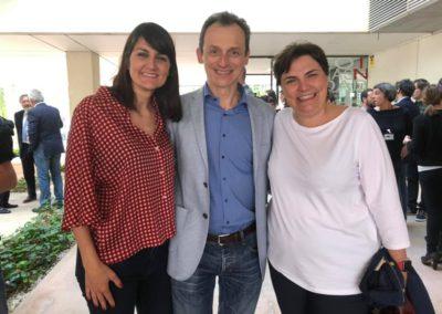 Pedro Duque Con Patricia Blanquer e Maria Gonzalez Veracruz