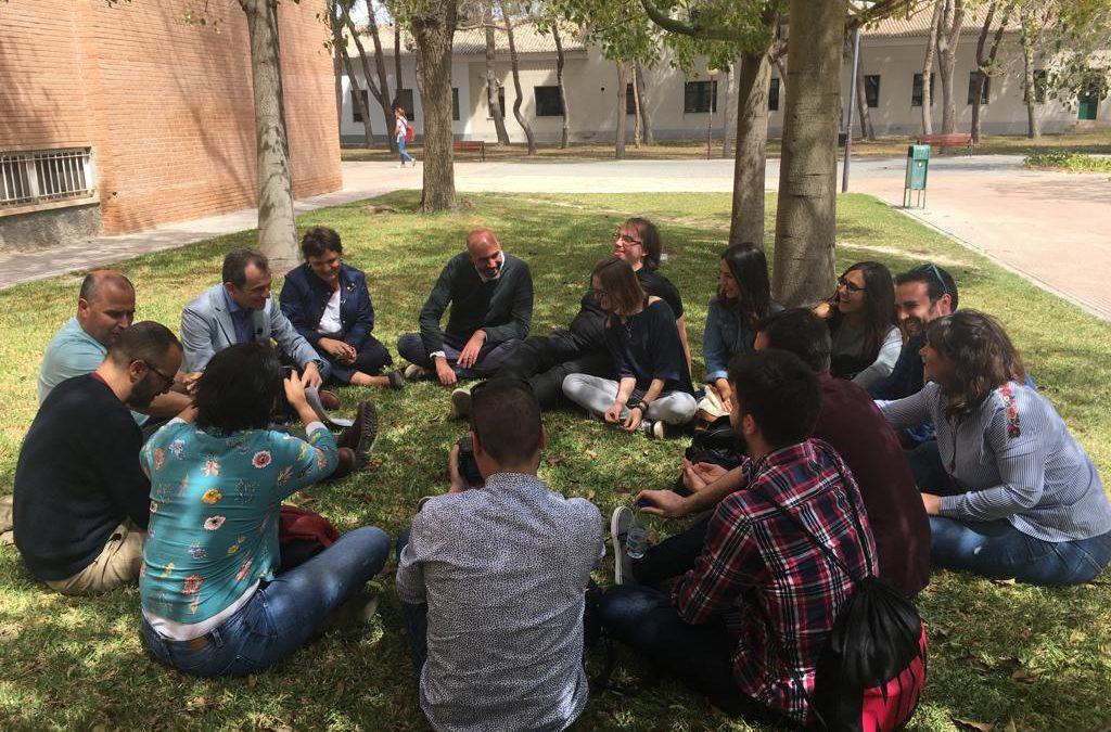 Reunión con la ADCAlicante en la UA para la divulgación científica en la provincia