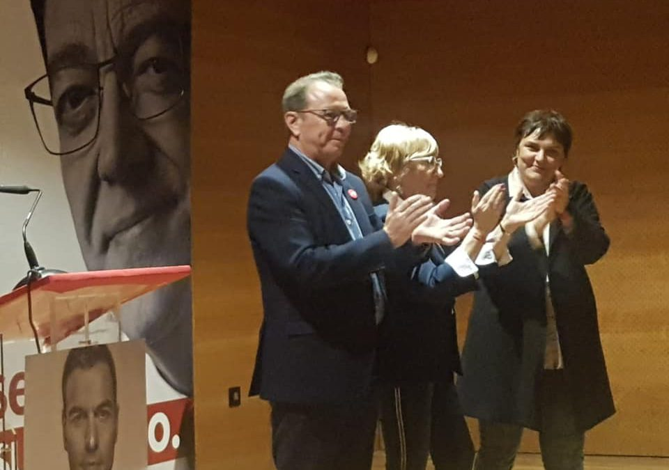 Mitin en Sax, con la Consellera de Sanidad Ana Barceló
