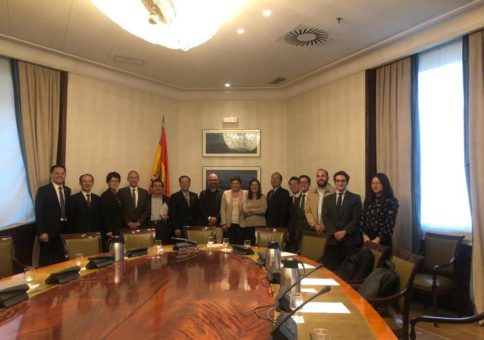 Visita Institucional recibida por los miembros de la Mesa de la Comisión de Presupuestos
