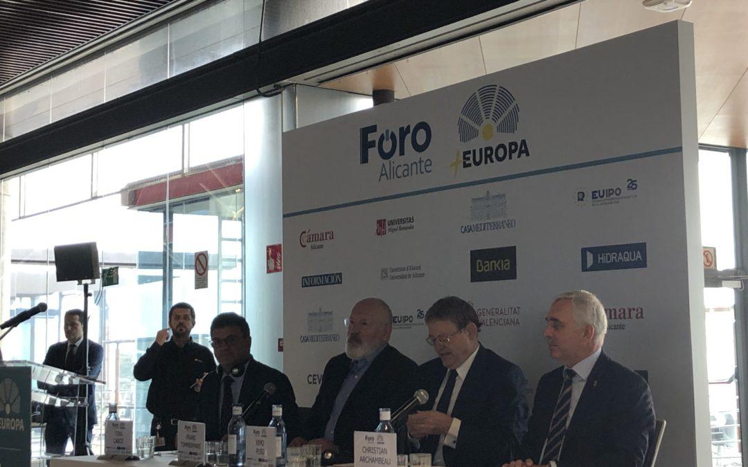 Conferencia en la EUIPO de Frans Timmermans