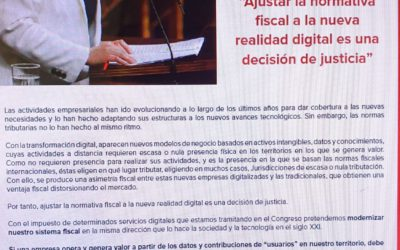 Ajustar la normativa fiscal a la nueva realidad digital es una decisión de justicia