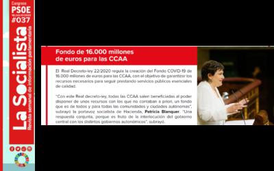Se reparten 16.000 millones de euros a las CCAA para paliar los efectos de la pandemia